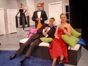 Forthcoming events paperless musings by script writer k from left lauren ashley suchecki joey arsenault marc st pierre and sheryl reed in a scene from neil simons rumors which runs at the gorton theatre fandeluxe Gallery